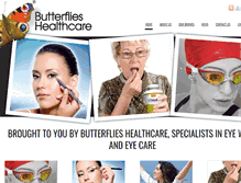 Tablet Preview of butterflies-healthcare.co.uk